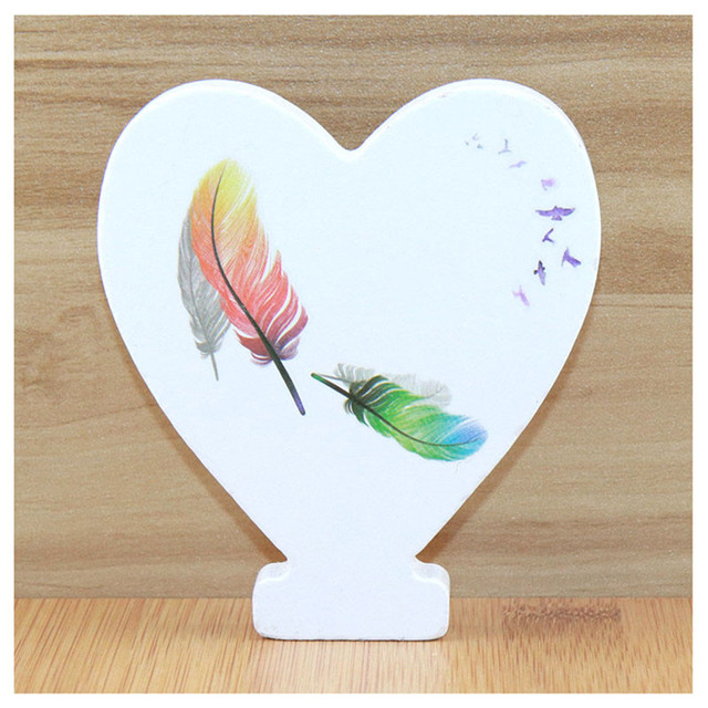 1pc 10cm Wooden Letters Alphabet Name Letter Standing Feather DIY Handmade Design Height Art Crafts Home Decor 3.94 Inches 6