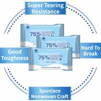 75% Alcohol Disinfection Wipes Without Irritating Or Drying Your Skin Disinfection Cleaning 10 Pcs / Bag