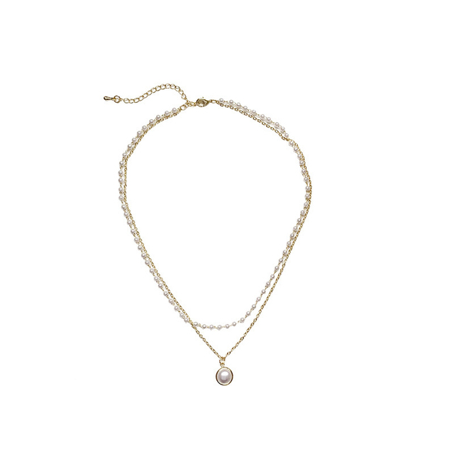 lovely pearlized necklace 6