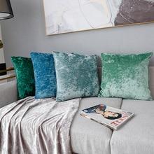 Furniture Soft Adornment Pure Velvet Pillowcase Fashion Sofa Cushion Cover Ice Slipcover Slip cover