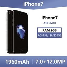 Used Apple Unlocked Original iPhone 7 Cell Phones 32/128GB 4G LTE iOS 12.0MP Camera Quad-Core Fingerprint 1960mA Smartphone