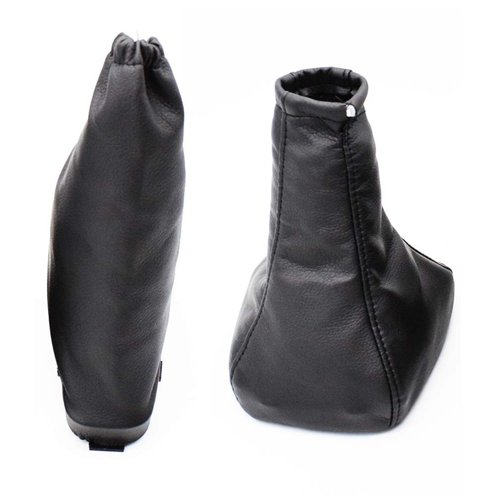Pu Leather Handbrake Gear Shift Stick Boot Gaiter Cover For Opel Astra G 98-04