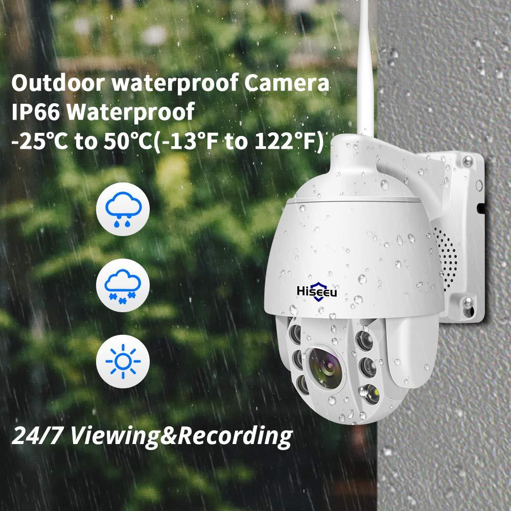 Hiseeu na świeżym powietrzu 1080P Wifi kamera PTZ do Hiseeu bezprzewodowy monitoring 5X Zoom cyfrowy prędkości kamera IP kopułkowa