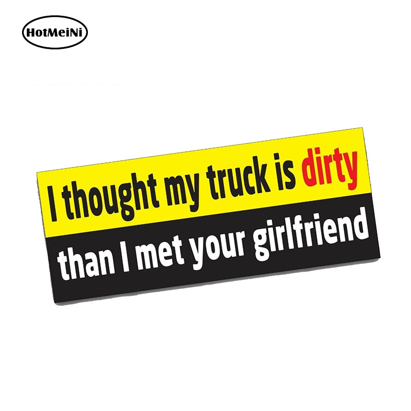 HotMeiNi 13cm x 6.7cm MY TRUCK Bumper Sticker Funny <font><b>Car</b></font> <font><b>4X4</b></font> <font><b>Offroad</b></font> 4WD Dirt JDM Mud SUV <font><b>Car</b></font> Stickers image