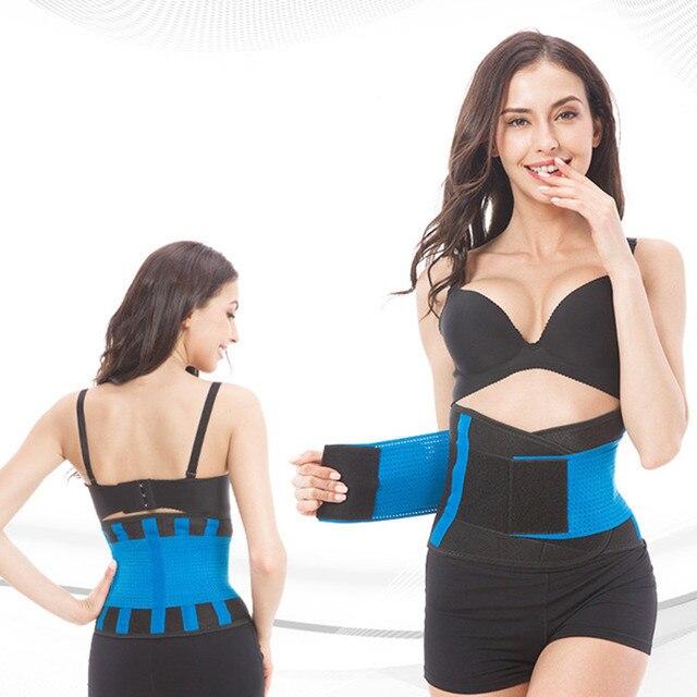 Fitness Sports Waist Support Belt Sweat Band Weight Loss Fat Burning Slimming Body Shaper Women Waist Trainer Trimmer Belts 1