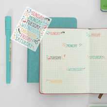350Pcs Week Planner Stickers Aesthetic Vintage Scrapbooking Stickers Korean Hand Account Date Stickers Diary Statione Stickers