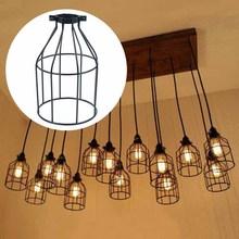 Vintage jaula de alambre de Metal techo colgante lámpara sombra colgante lámpara de araña nueva