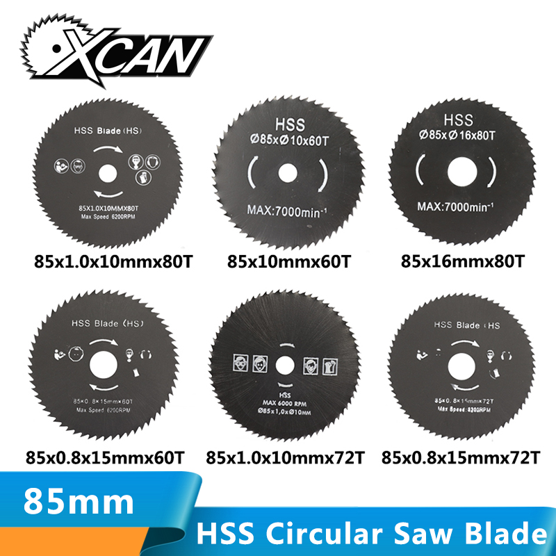 XCAN 1pc 85mm Nitride Coating HSS Circular Saw Blade Wood/Metal Cutter Wood Cutting Disc Saw Blade