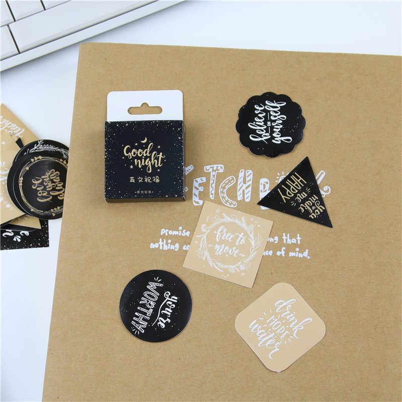 45 adet/paket sevimli İngilizce nimet dekoratif çıkartmalar yapışkan çıkartmalar DIY dekorasyon zanaat Scrapbooking çıkartmaları hediye Statione