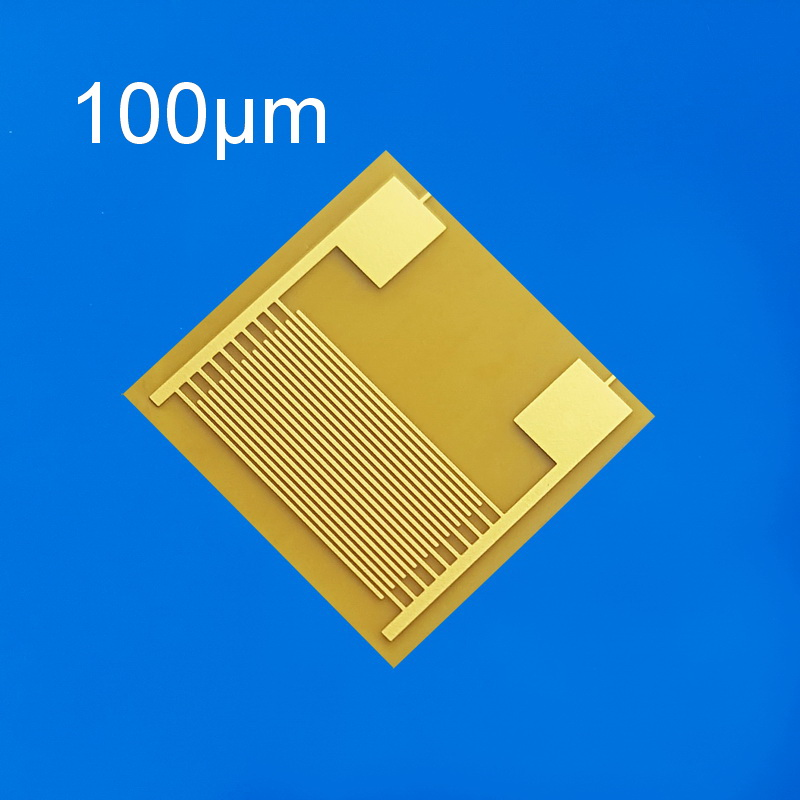 Flexible Fork Finger Capacitor Array Gas Biological Humidity Sensor Chip PI