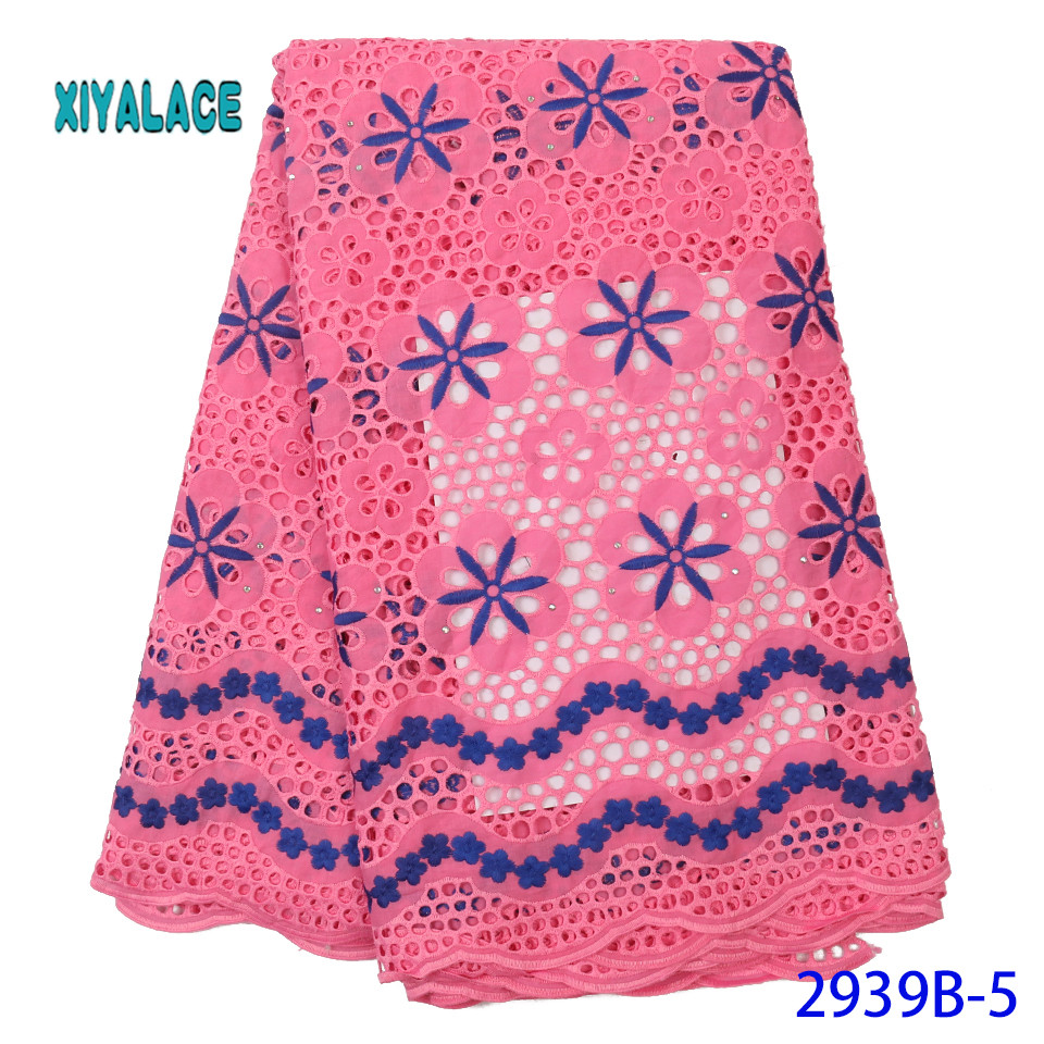 African Lace Fabric Latest High Quality 2019 Lace Embroidery French Lace Fabric Bridal Lace For Nigerian Party Dress YA2939B-5