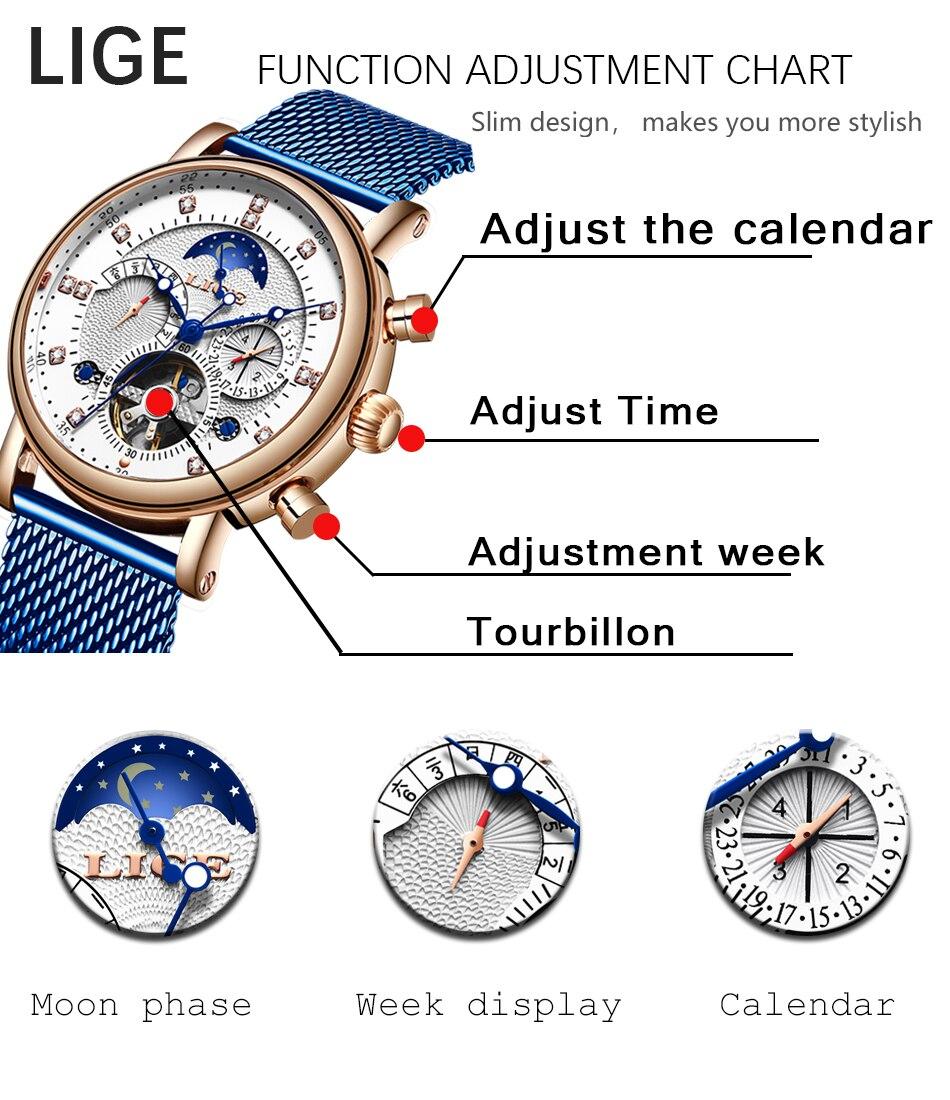 Lige presente dos homens relógios marca de