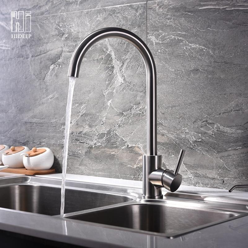 Hideep cuisine chaud et froid robinet doigt bol légumes bassin cuisine robinet fabricant maison amélioration matériaux de construction