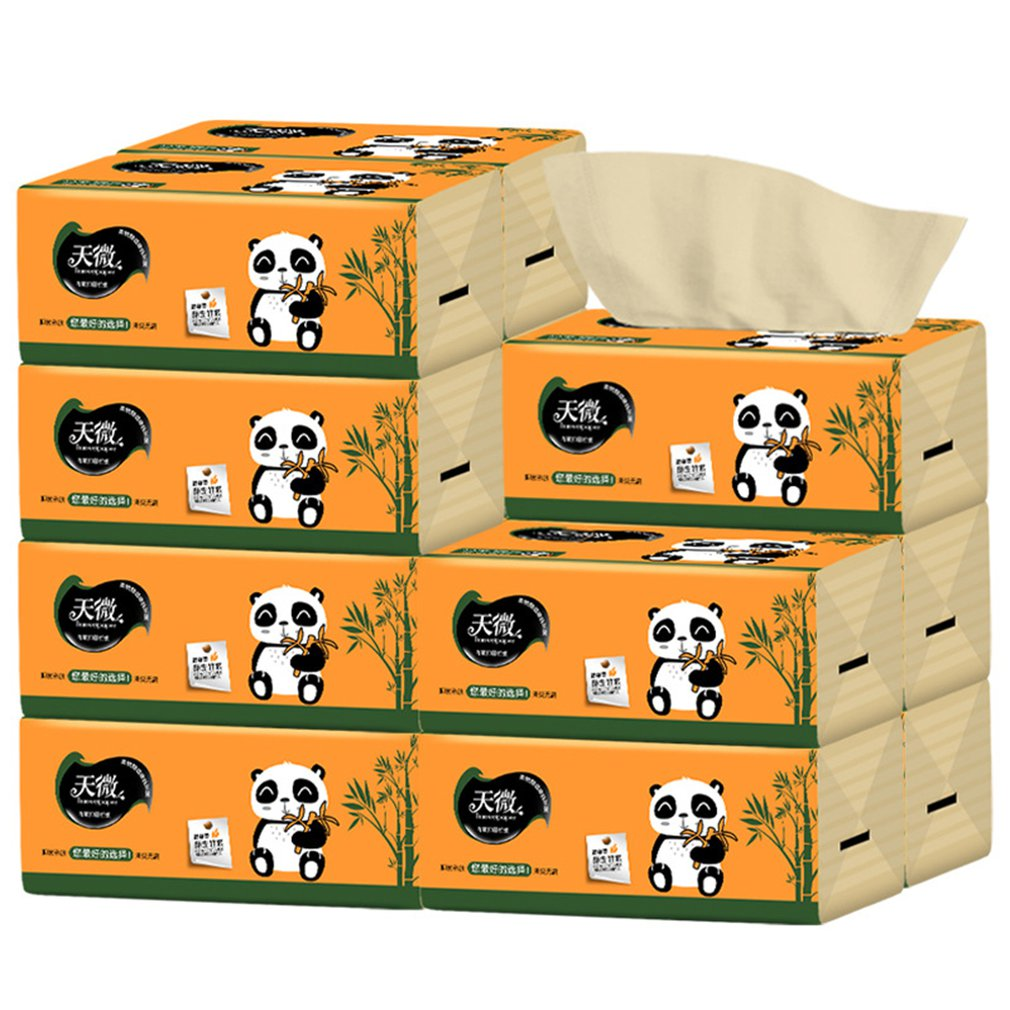 4 Bags Natural Bamboo Paper Towels Portable High Quality Toilet Paper For Office For Family Restaurant Paper Towel