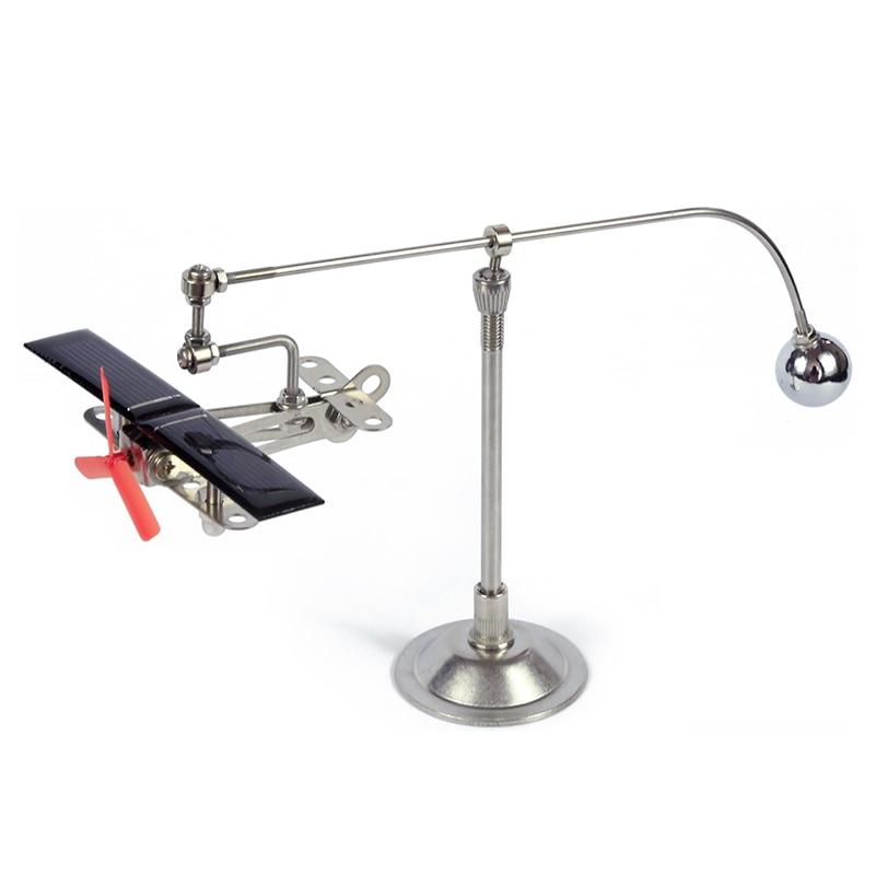 Hi-tech jouet à énergie solaire Mini avion nouveauté créatif éducatif Gadget scientifique cadeau enfants bricolage robotique avion jouet