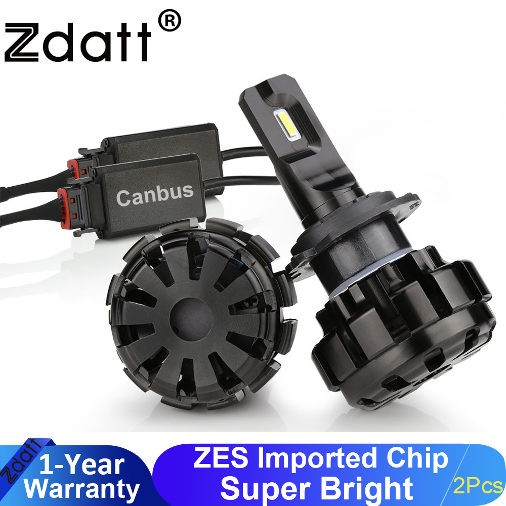 Zdatt H7 Led H11 Led Lamp Car HeadLight Bulbs H1 Lamps H8 HB3 9005 Led 12V 9006 HB4 Canbus 100W 12000LM Automobiles Lamp