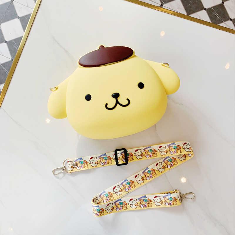 Bonito da princesa dos desenhos animados anime macio silicone bolsas de ombro bolsa de luxo bolsas femininas designer embreagem doces bolsas e crossbody saco
