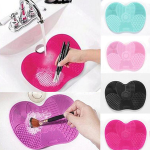 Image 1 - Silicone Makeup Brush Cleaning Pad Mat Brush Washing Tools Cosmetic Eyebrow Brushes Cleaner Tool Scrubber Board Makeup Cleaning