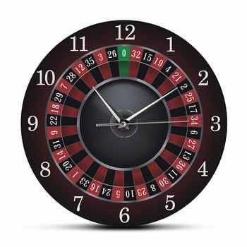 Poker Roulette Wanduhr Mit Schwarz Metall Rahmen Las Vegas Spiel Zimmer Wand Kunst Dekor Zeitmesser Uhr Uhr Gambling Casino geschenk