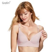 Gratlin Pregnant Woman Nursing Bra Breast Feeding Underwear Wire Free Lightly Padded  Maternity Bras