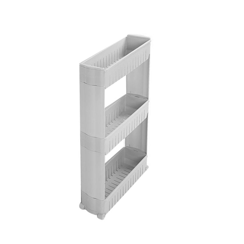 Mobile Shelving Unit Organizer With 3