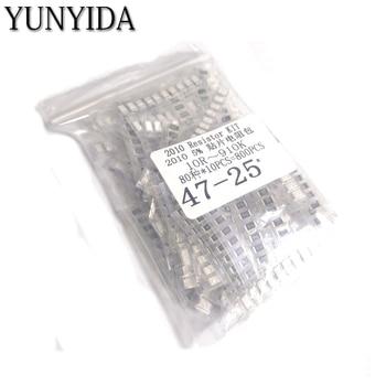 800pcs   2010 SMD Resistor Kit Assorted Kit 1ohm-1M ohm 5% 80valuesX 10pcs=800pcs Sample Kit 0805 240k 5 1m smd resistor white 420 pcs