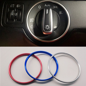 Car Headlight Switch Decorative Trim Frame Ring For Volkswagen VW Golf Jett MK5 MK6 Passat B6 B7 CC Touran Tiguan
