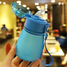 300ml Cute Kids Water Bottles with Straw bpa free Outdoor Ch