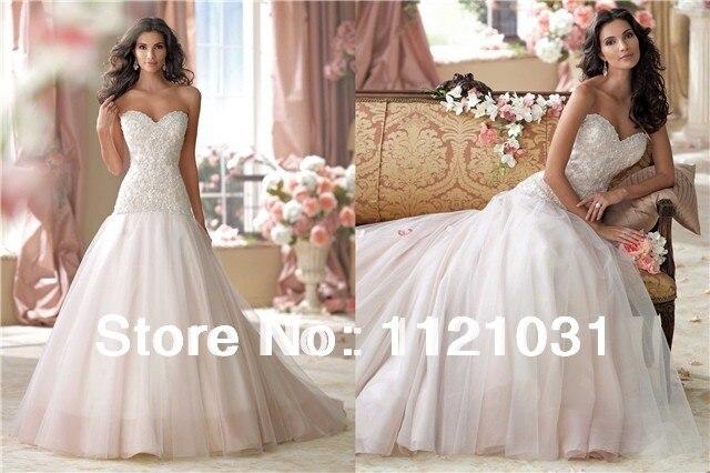 Frete Grtis Senhoras 2019 New Novo A- Linha Beading Apliques Organza Branca/marfim Vestidos De Noiva Personalizado Wedding Dress