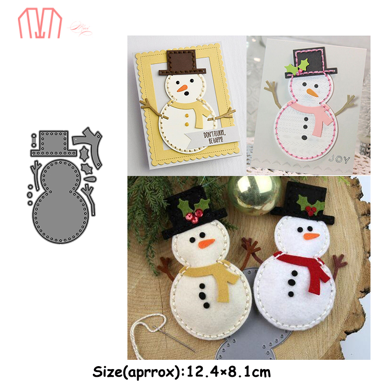 Mai Christmas Snowman Metal Cutting Dies Stencils for DIY Scrapbooking Photo Album Decorative Embossing DIY Paper Cards title=
