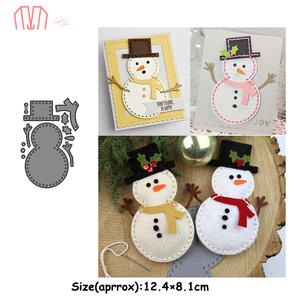 Mai Christmas Snowman Metal Cutting Dies Stencils for DIY Scrapbooking Photo Album Decorative Embossing DIY Paper Cards