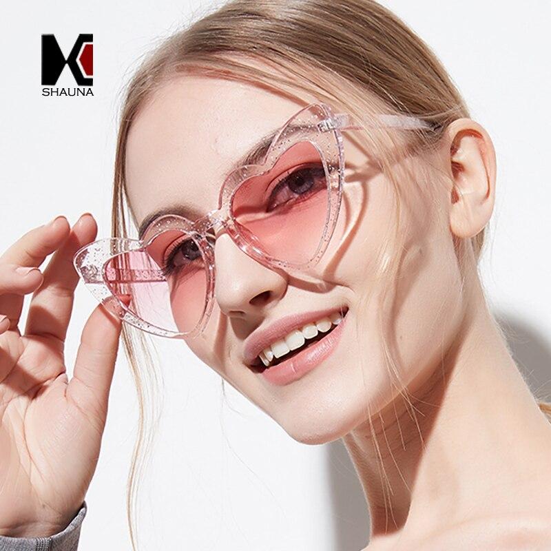 Женские очки с металлическими петлями SHAUNA, ярко-розовые очки кошачий глаз с блестящими линзами, UV400