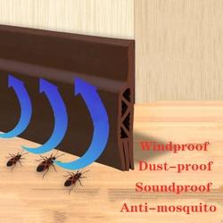 Tira de vedação de vidro janela da porta isolamento acústico auto-adesivo à prova de vento mosquito impermeável porta borda de madeira dispositivo de proteção