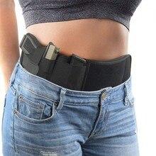 Funda táctica para pistola de vientre, bolsa Invisible para cinturón, cinturón oculto, faja elástica, funda de pistola para Glock Phone, revistas de caza