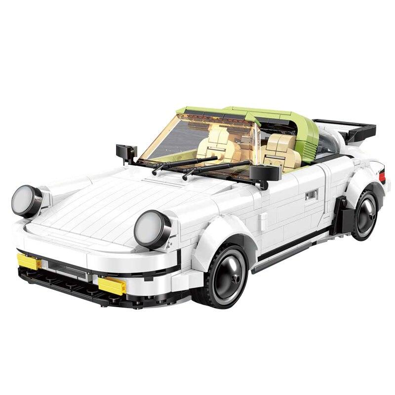 13103 882 pièces Yeshin MocTechnic voitures le blanc Targa Sport vitesse voiture modèle blocs de construction briques enfants jouets cadeau de noël