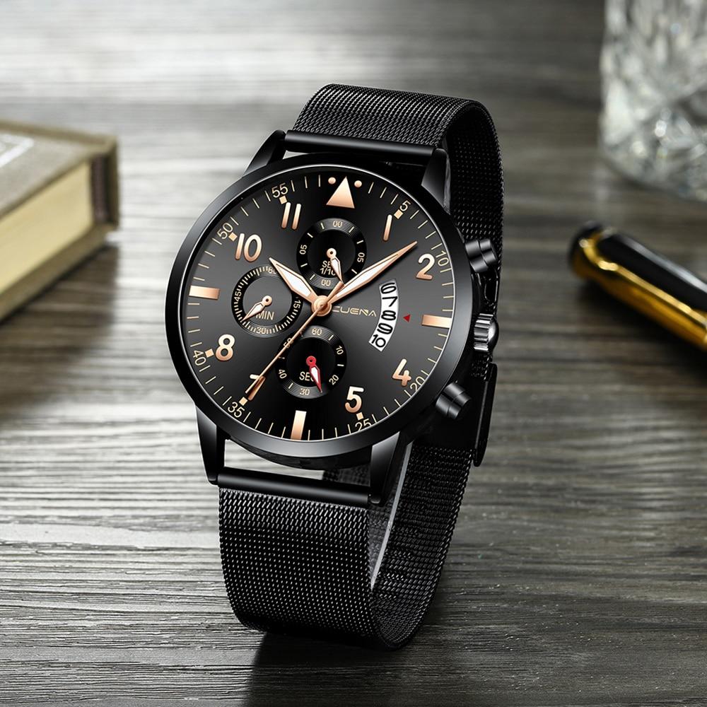 CURREN Watch Men Fashion Business Watches Men's Casual Waterproof Quartz Wristwatch Black Mesh Clock Relogio Masculino