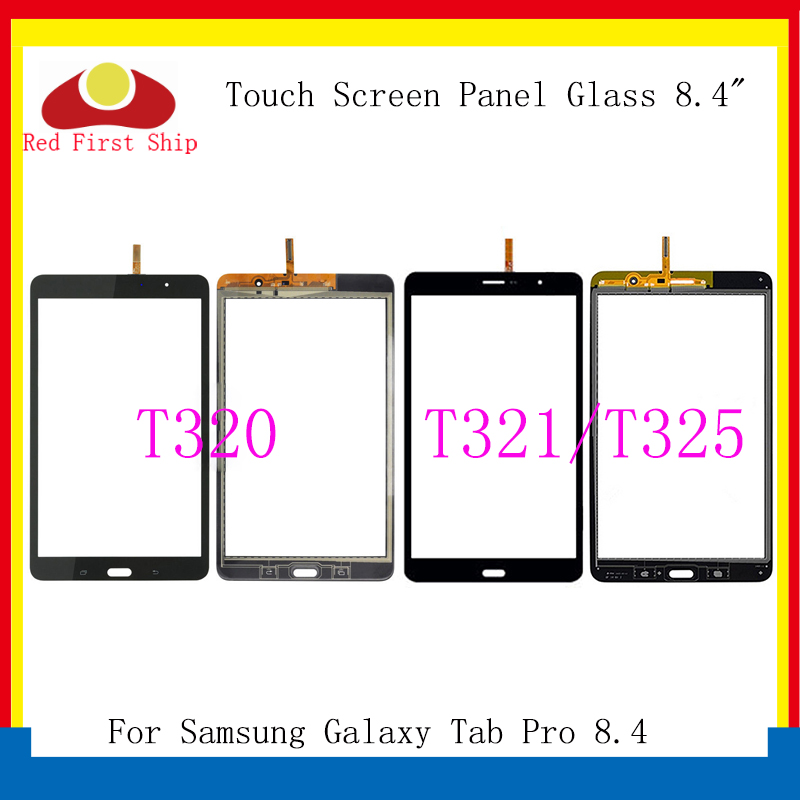 10Pcs/lot For Samsung <font><b>Galaxy</b></font> <font><b>Tab</b></font> <font><b>Pro</b></font> <font><b>8.4</b></font> T320 T321 T325 Touch Screen Digitizer Panel Glass Lens <font><b>LCD</b></font> Front Sensor Replacement image