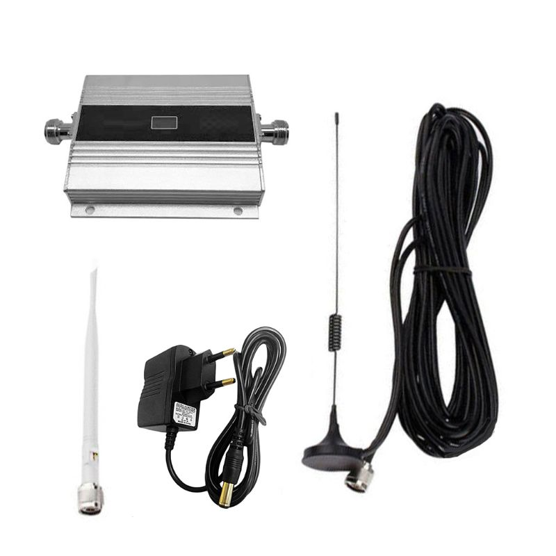 EU Plug 900Mhz GSM 2G/3G/4G Signal Booster Repeater Amplifier Antenna For Mobile Phone