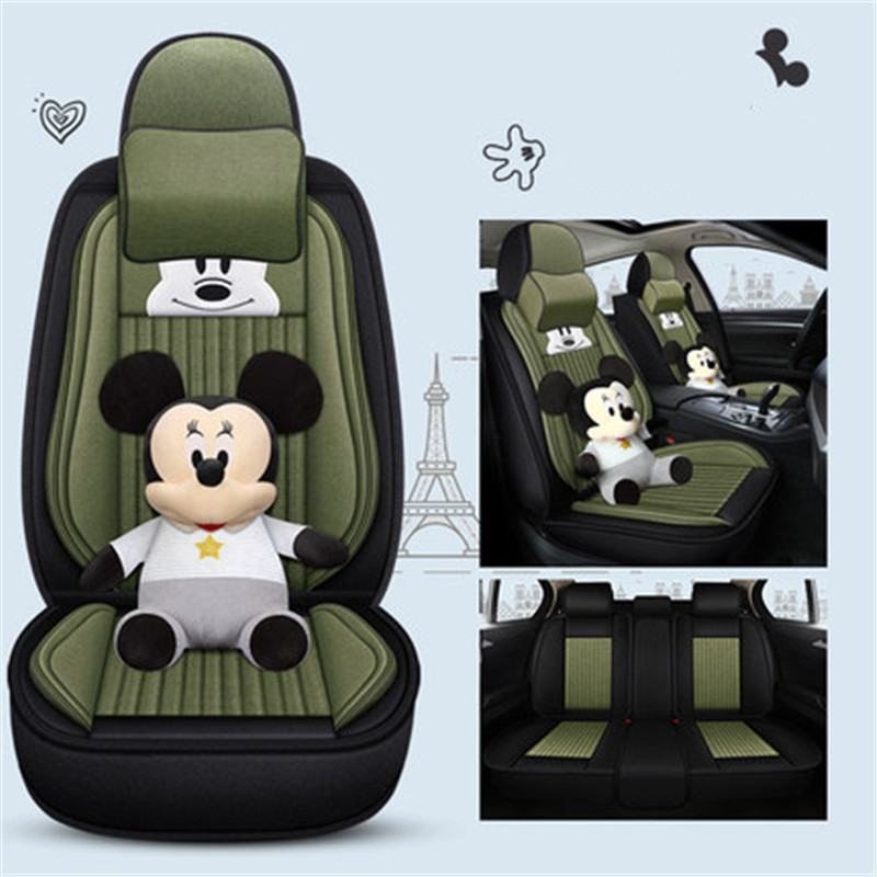 Disney Car Seat Cover Mickey Mouse Cartoon Cushion Modern Creative Air Cushion Action Figure Model Valentine's Day Gift M4669 image