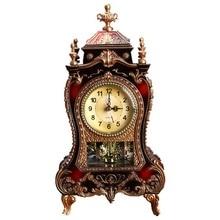 Reloj despertador creativo clásico reloj de escritorio Imperial decoración de gabinete de asiento péndulo reloj para sala de TV sala de estar