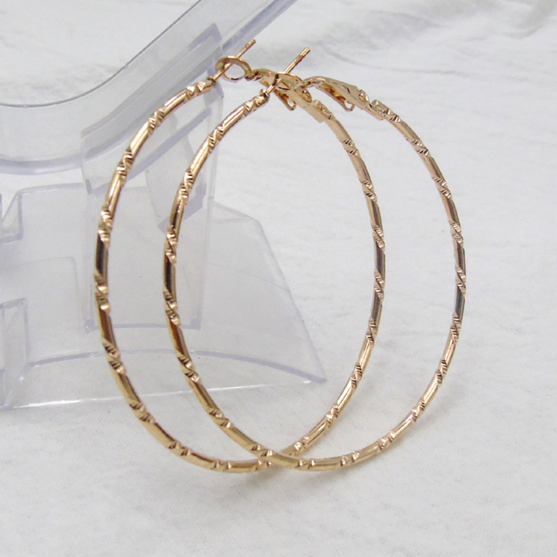 50mm 60mm 70mm Simple Large Circle Round Big Hoop Earring For Women Fashion Jewelry Gold Color Exaggerated Great Aros Brincos