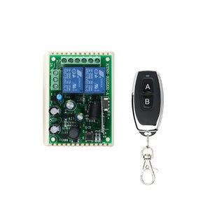 Image 2 - 433 Mhz Telecomando Universale Senza Fili Interruttore di Controllo AC220V 110V 2CH Relè Modulo Ricevitore & RF 433 Mhz per la Luce interruttore KTNNKG