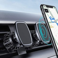 Soporte magnético de teléfono móvil para coche, soporte Universal de ventilación para iPhone 12, montaje de teléfono móvil con GPS para Samsung y Xiaomi