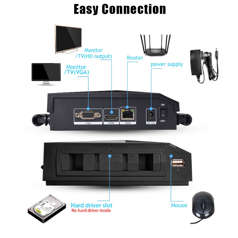 4CH 1080P HDMI Wifi NVR 2.0MP Security Camera System IR Outdoor Waterproof CCTV Camera Wireless Surveillance System