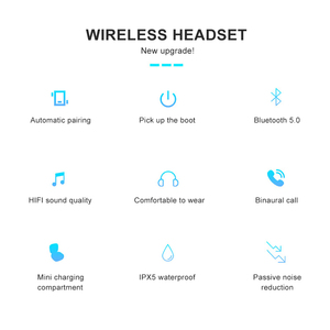 Image 5 - TG2 TWS Bluetooth 5.0 écouteur stéréo sans fil Earbus HIFI son Sport écouteurs mains libres jeu casque avec micro pour téléphone