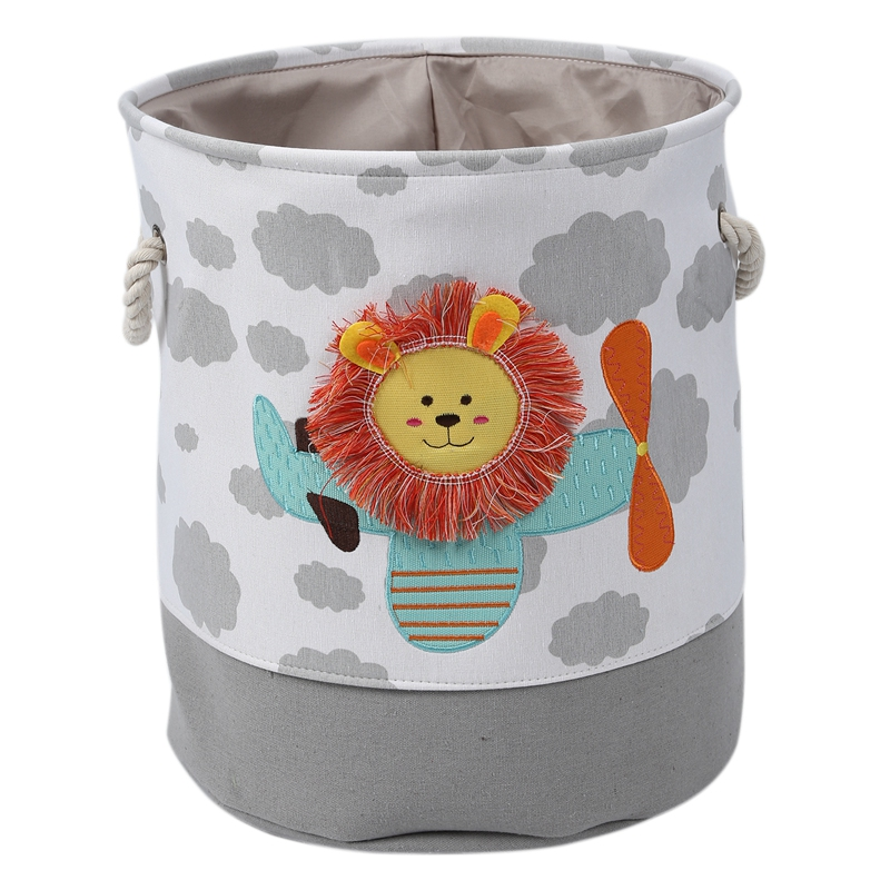 Durable Dirty Clothes Storage Bucket Lion Cartoon Canvas Storage Basket For Toys Child Folding Laundry Basket Dirty Clothes