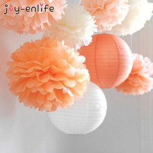 Tissue-Paper Ball Decoration-Supplies Pom-Poms Artificial-Flowers Baby Shower Birthday-Party