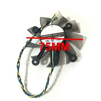75MM FD8015U12S DC12V 0.5AMP 4PIN Cooler Fan For ASUS GTX 560 GTX550Ti HD7850 Graphics Video Card Cooling Fans K1AA image