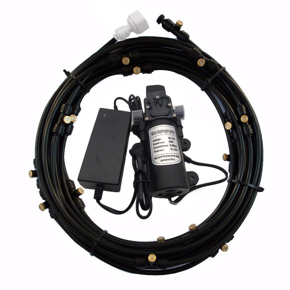 F175 Booster pompe à eau à membrane haute pression 12v 5l/min 160psi pompe à brouillard avec Kits de brumisation Patio basse pression buse en laiton