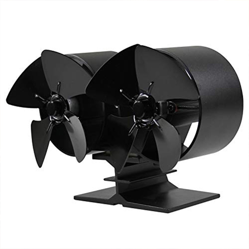 Heat Powered Stove Fan Fireplaces Stove Fan - Double Motor - 8 Blade Heat Powered Stove Fan Specially for Large Room for Firepla image